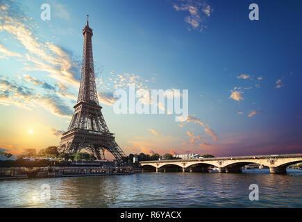 Brücke Iena in Paris - Stockfoto