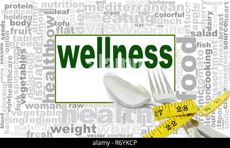 Wellness word Cloud Design - Stockfoto