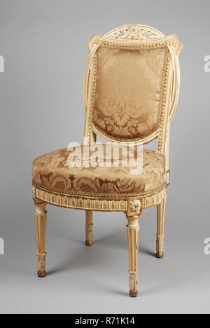 LackiertTeilweise Stuhl NutzenGerade Vergoldet Weiß Louis Sitz VqzMpGSU