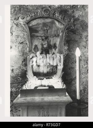 Umbrien Terni Imperia S. Maria Assunta, das ist mein Italien, die italienische Land der visuellen Geschichte, Blick nach außen dieses 12. Jahrhundert romanische Kirche aus dem 15. Jahrhundert Ergänzungen konzentrieren sich auf die Fassade mit ihrer Rosette und die Foliate und tierischen Skulpturen des Portikus. Blick auf den Innenbereich zeigen ein mittelschiff Stock von cosmatesque Mosaik inlay eine aus dem 12. Jahrhundert Ikonostase, Kanzel und Ziborium, ein Triptychon von Niccolo Alunno eine Krypta mit verschiedenen Hauptstädten. Foto 1982, 1985 - Stockfoto