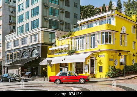 Stanley, Hongkong - Dezember 13, 2016: Blick auf die kleine Stadt Straße an einem heißen Tag Zeit. Stanley Main Street. - Stockfoto