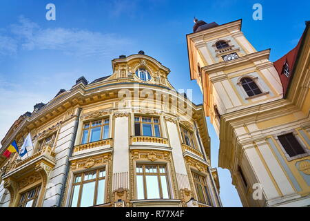 Rathaus in großen Platz, Sibiu, Siebenbürgen, Rumänien - Stockfoto