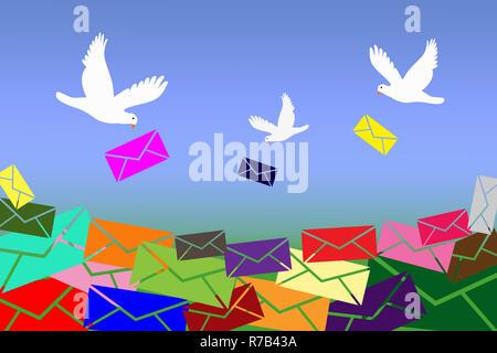 Tauben Buchstaben - Stockfoto
