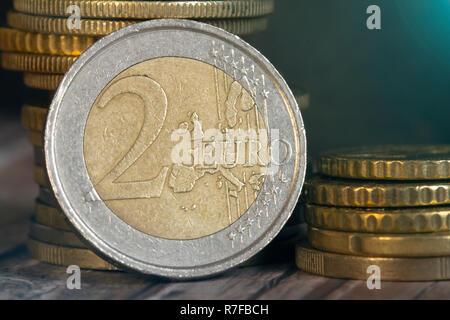 Nahaufnahme Der 2 Euro Münze Stockfoto Bild 53583028 Alamy