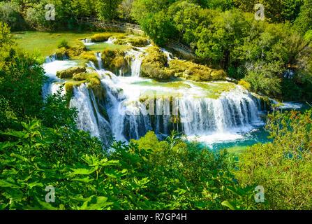 Wasserfälle Krka, Nationalpark in der Region Dalmatien, Kroatien - Stockfoto