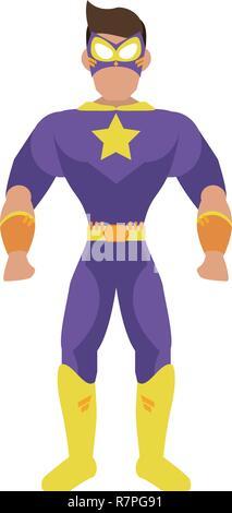 Superhelden Charakter Cartoon - Stockfoto