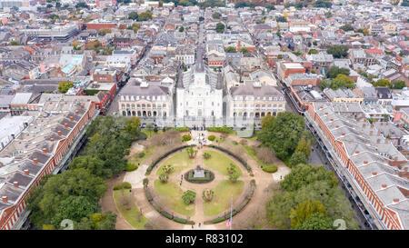 St. Louis Kathedrale, Jackson Square, French Quarter, New Orleans, LA, USA - Stockfoto