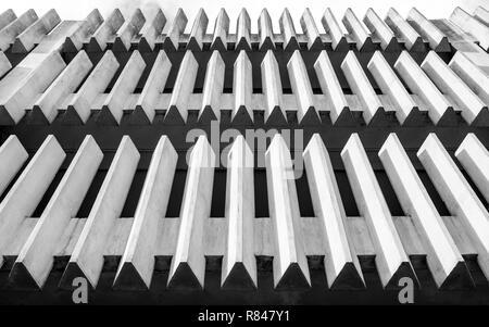 Abstrakte Architektur minimale konkrete äußere in Schwarz und Weiß