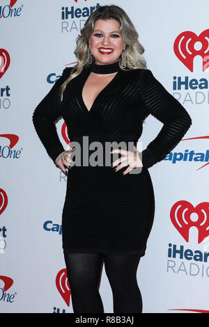 LAS VEGAS, NV, USA - 22. SEPTEMBER: Kelly Clarkson in der Presse während der 2018 iHeartRadio Music Festival - Nacht 2 bei der T-Mobile Arena am 22. September 2018 in Las Vegas, Nevada, USA. (Foto von Xavier Collin/Image Press Agency) - Stockfoto