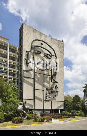 Bild von Che Guevara auf dem Platz der Revolution in Havanna. Kuba - Stockfoto