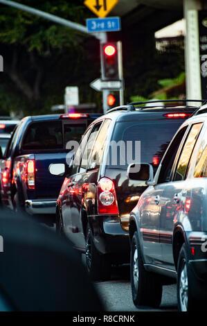 Typische Berufsverkehr Szene in Los Angeles - Stockfoto