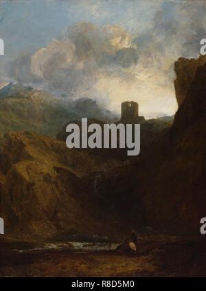 Dolbadarn Schloss, North Wales, 1800. In der Sammlung der Royal Academy of Arts, London gefunden. - Stockfoto