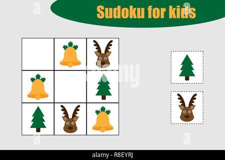 sudoku spiel mit beantworten vektor puzzle spiel mit zahlen f r kinder und erwachsene. Black Bedroom Furniture Sets. Home Design Ideas