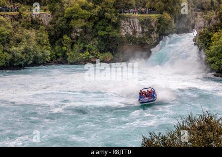 Huka Falls, Taupo, Nordinsel, Neuseeland - Stockfoto