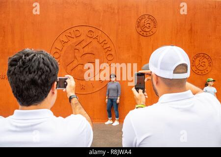 Frankreich, Paris, Roland Garros Stadion, Tennis International - Stockfoto