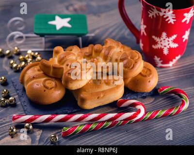 Weihnachten Kekse und Süßigkeiten closeup - Stockfoto