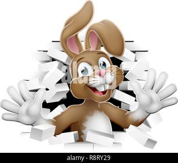 Osterhase Hase Aus Hintergrund - Stockfoto