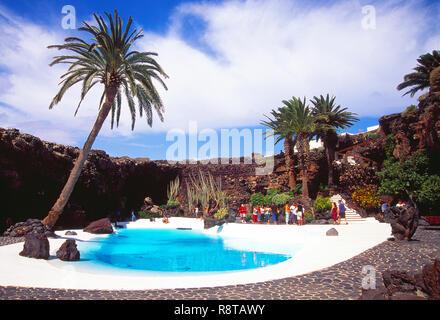 Los Jameos del Agua, von Cesar Manrique. Lanzarote, Kanarische Inseln, Spanien. - Stockfoto