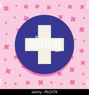 Impfung Kreis medizinische Kreuz Symbole Vector Illustration - Stockfoto