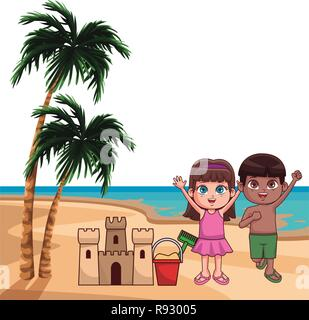 Sommer kinder cartoon - Stockfoto