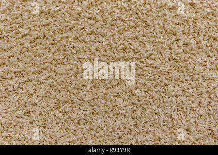 In der Nähe des hellen braunen Teppich Textur Hintergrund im Tagungsraum. Die Beschaffenheit des Lichts braunen Teppich Textur. - Stockfoto