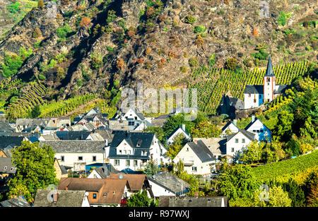 Stadt Alken an der Mosel in Rheinland-Pfalz, Deutschland - Stockfoto
