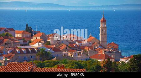 Stadt von Sutivan skyline Panorama, Insel Brac, Kroatien - Stockfoto
