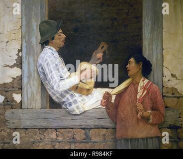 Jose Ferraz de Almeida Jr. (1850-1899). Brasilianischer Maler. Der Gitarrist, 1899. Pinacoteca do Estado de Sao Paulo. Brasilien. - Stockfoto