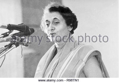 Indira Gandhi indischer Premierminister von Indien - Stockfoto