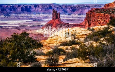 Insel im Himmel, Canyonlands National Park, Moab, Utah USA - Stockfoto