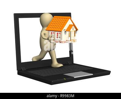 Konzeptionelle 3D-Bild - home Internet - Stockfoto