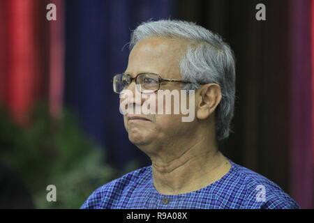 Portrait von Nobelpreisträger Professor Muhammad Yunus, der Friedensnobelpreisträger 2006 gewann. Yunus gegründet die Grameen Bank, die Bank o bekannt - Stockfoto