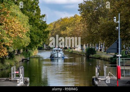 Frankreich. Haute-Garonne (31), Toulouse. Hausboote auf dem Canal du Midi - Stockfoto