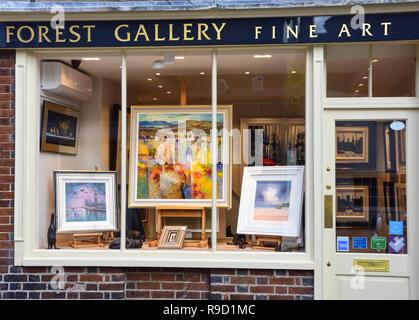 Wald Fine Art Gallery, Lombard Street, Petworth, West Sussex, England, Vereinigtes Königreich - Stockfoto