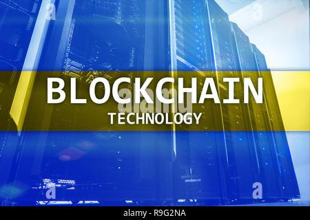 Cryptocurrency blockchain Technologie, Bergbau. - Stockfoto