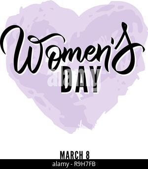 32b22bf929ef2a Happy Tag der Frauen handschriftliche Schriftzug Text