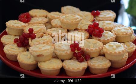 Mince Pies für Weihnachten - Stockfoto