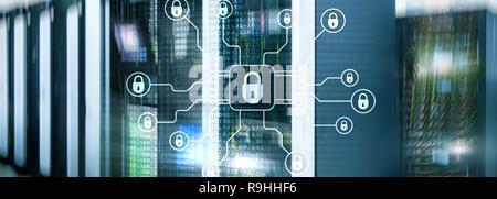 Cyber Security, Datenschutz, Privatsphäre. Internet und Technologie Konzept.