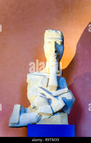 Pharao Amenophis IV - Echnaton 1350 BC Fragment einer Säule östlich von Karnak - Stockfoto