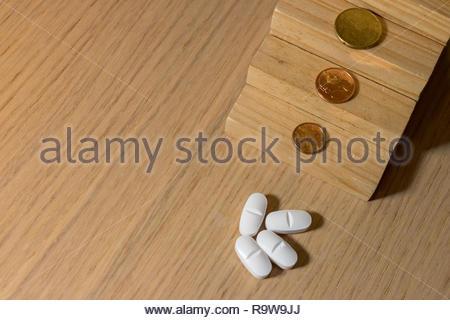 Die Kosten für die Medizin- und Pharmaindustrie Kosten - Stockfoto
