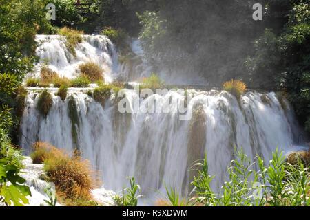 Kroatien - Nationalpark Krka in Dalmatien. Schöne Wasserfälle. - Stockfoto