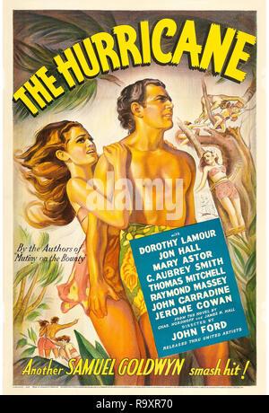 Der Hurrikan (United Artists, 1937) Poster Dorothy Lamour, Jon Hall, Mary Astor Datei Referenz # 33635 971 THA - Stockfoto