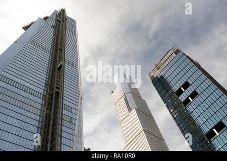 Neue, moderne Wolkenkratzer in New York City - Stockfoto
