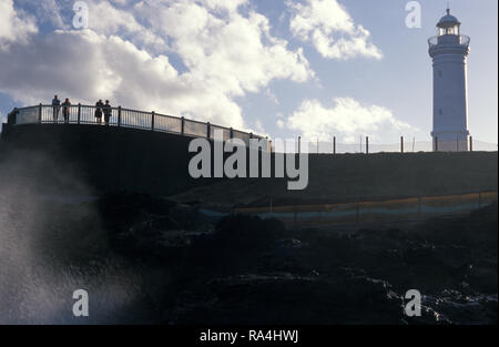 BLOWHOLE und Leuchtturm, Sydney, New South Wales, Australien - Stockfoto