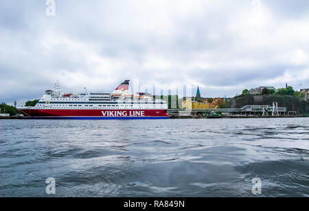 Stockholm/Schweden - 15. Mai 2011: Viking Line Schiff Gabriella in Stockholm. - Stockfoto