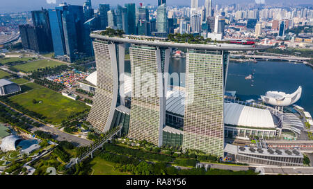Marina Bay Sands Resort, Singapur - Stockfoto