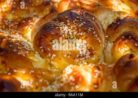 Bulgarische Weihnachten Brot (Brot) - Stockfoto