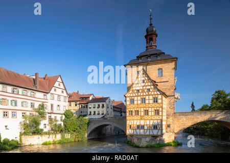 Altes Rathaus (Altes Rathaus), Bamberg, Weltkulturerbe der UNESCO, Bayern, Deutschland, Europa - Stockfoto