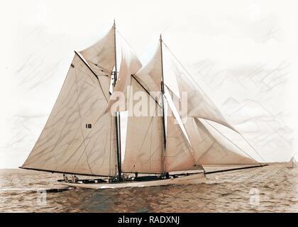 Mayflower Mayflower (Schoner), Yachten, 189. Neuerfundene durch Gibon. Klassische Kunst mit einem modernen Touch neuerfundene - Stockfoto