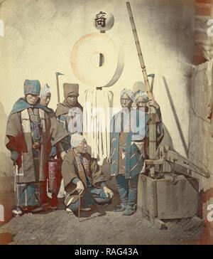 Feuerwehrmann Mit Ihren Standard Felice Beato 1832 1909 Japan